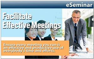 Chairing Effective Meetings by How To Chair Or Facilitate Effective Meetings The