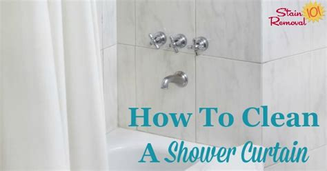 how to clean your shower curtain how to clean shower curtain