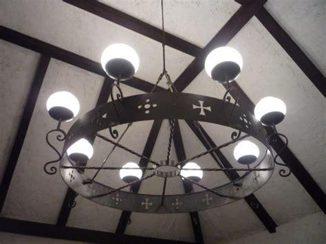 lampara de techo hierro forjado sala comedor biblioteca