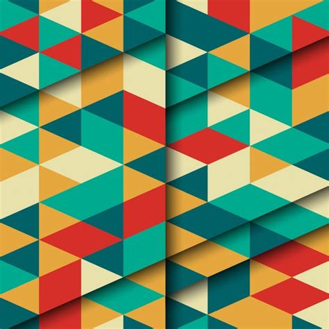 pattern vector color full color pattern with geometric shapes vector free