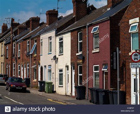 houses to buy in chesterfield traditional british terraced houses in chesterfield derbyshire stock photo royalty