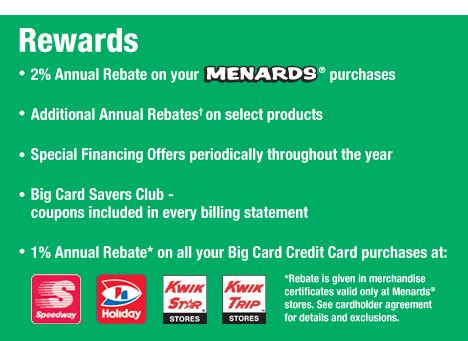 Menards Gift Card Balance - big card rebates at menards