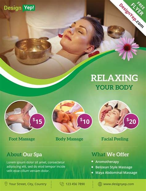 Get Free Spa And Wellness Free Psd Psd Flyer Template Flyershitter Com Spa Flyer Templates Free