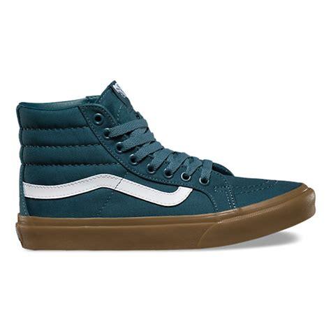 light green high top vans light gum sk8 hi slim shop shoes at vans