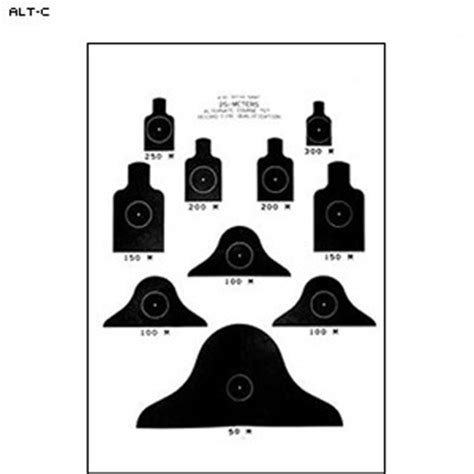 printable m4 targets law enforcement targets action target m16 alternate quot c