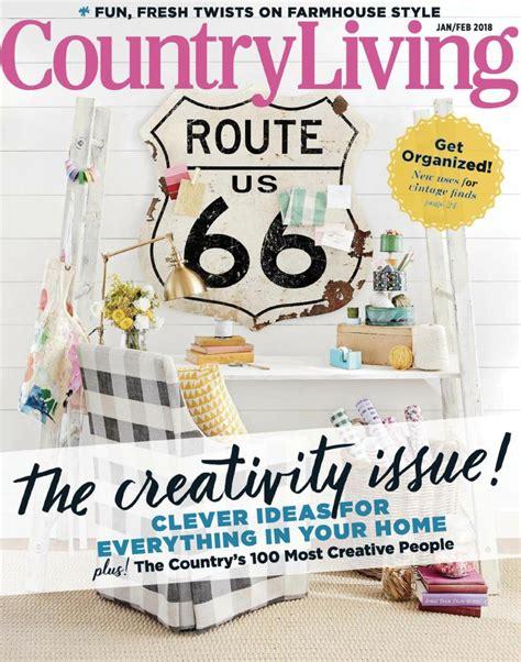 country living january february  magazine