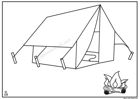 tent coloring page cing tents free colouring pages