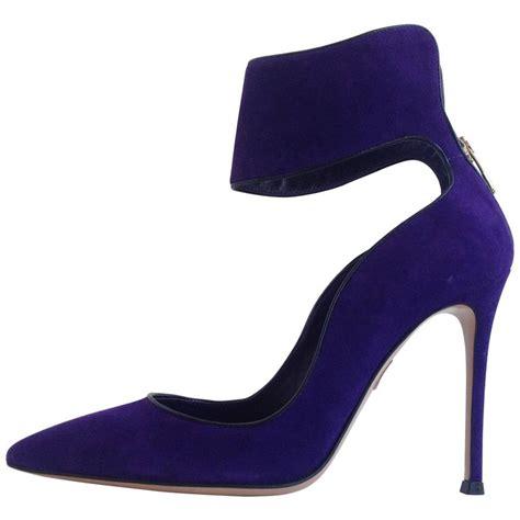 purple suede high heels gianvito purple suede cuff heels size 37 5 7 for