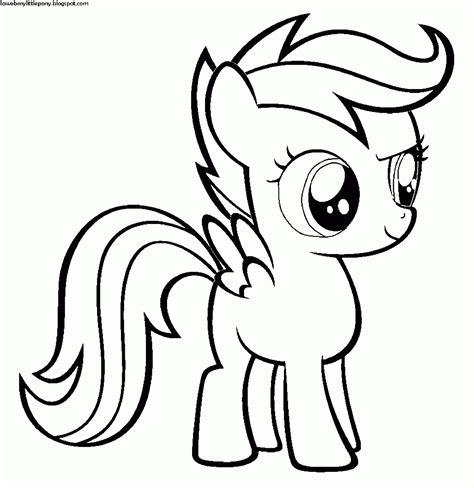 imagenes para pintar my little pony my little pony dibujos para colorear de scootaloo de my