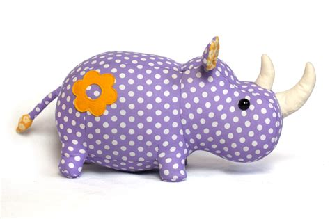 sewing pattern stuffed animal toy patterns by diy fluffies rhino stuffed animal pattern