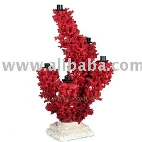 V Design Coral Candle Holder rosso corallo candelabri design supporto di candela