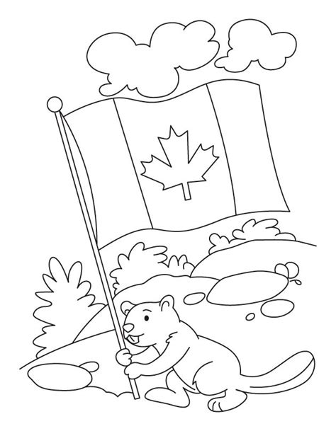 what color is the flag of canada coloring home