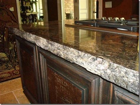 Unpolished Granite Countertops edge on granite counter top for the home