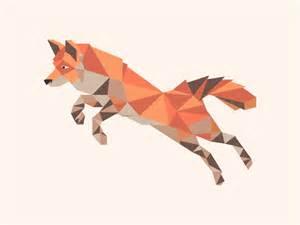 geometric fox by josh toan dribbble