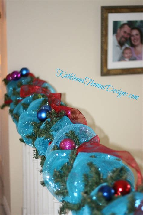 aqua blue christmas lights christmas stair decorations in red blue turquoise with