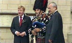 skye boat song lone piper bbc news uk politics in pictures charles kennedy weds