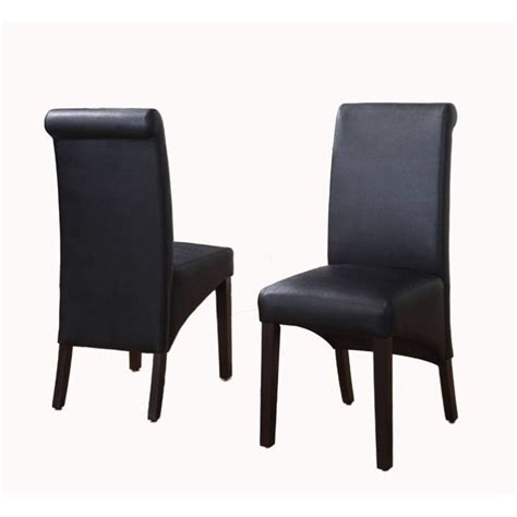 Sleigh Chair by Modus Cosmo Sleigh Backparson Dining Chair In Jet Black