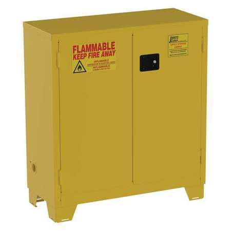 Yellow Flammable Storage Cabinet Jamco Flammable Safety Cabinet 30 Gal Yellow Fm30 Zoro