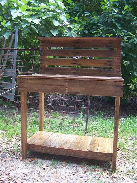 potting bench from pallets diy pallet potting bench buffet 101 pallets