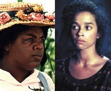 color purple characters oprah someone called oprah a field ni er but don t worry