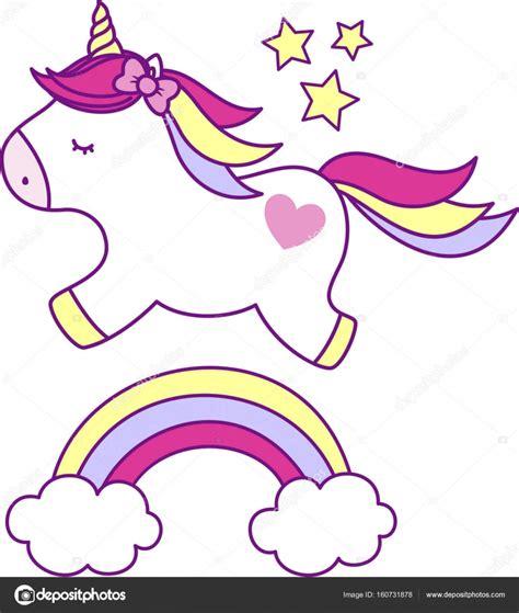 imagenes de unicornios y arcoiris lindo unicornio con arco iris vector de stock 169 hayaship