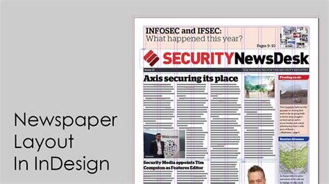 best layout features how to design a newspaper newspaper layout in indesign