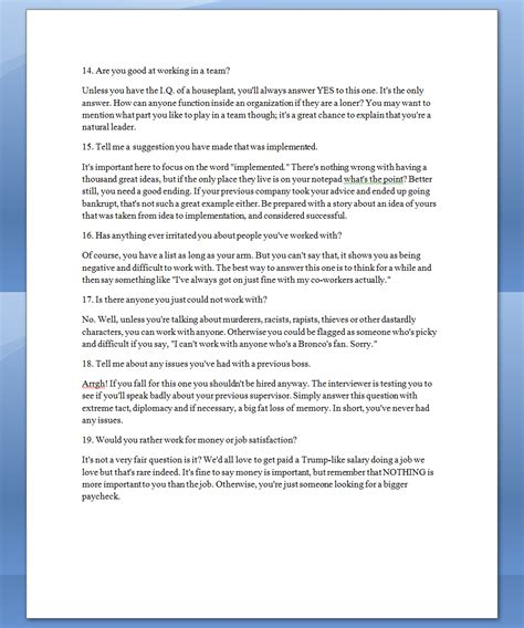 see once how to answer 23 of the most common questions