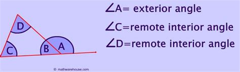 Formula For Interior Angle Of A Polygon Remote Exterior And Interior Angles Of A Triangle