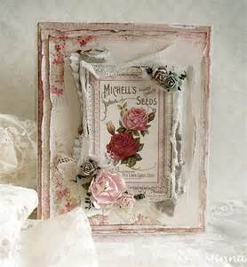 rose card by minna for pion design paper collection vintage garden cards pinterest