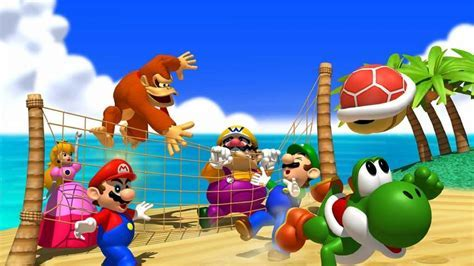 Donkey kong yoshi wario artwork sea beach wallpaper   (33763)