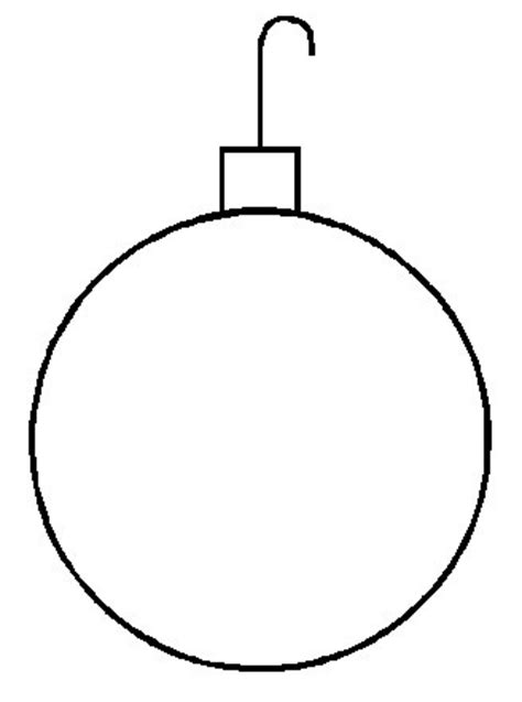 blank christmas ornament coloring page best photos of blank christmas ornament template