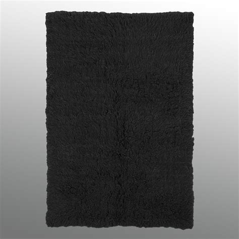 rugs black black flokati wool shag area rugs