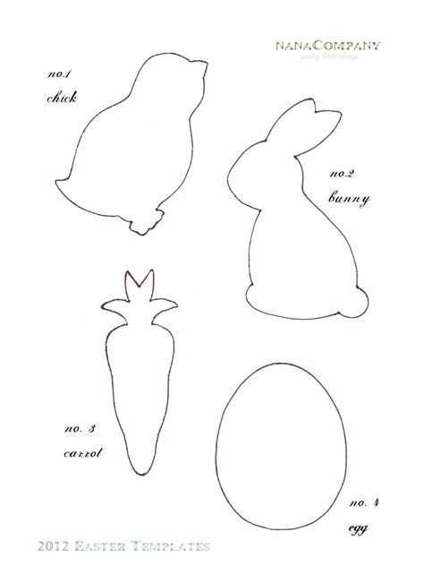 free felt templates felt easter patterns free free printable easter template