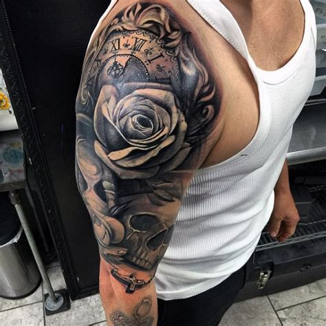 black and white half sleeve tattoos for men half sleeve tattoos for black and grey