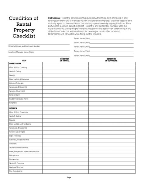 printable home inspection checklist for buyers and