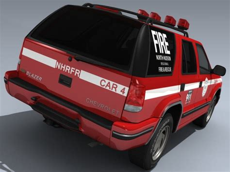 Gm 21 3ds Max Animation 1998 chevy blazer rescue 3d model