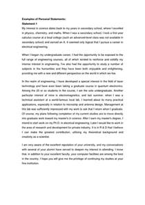 College Personal Essay by College Essay Personal Statement Exles Personal Essays