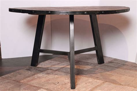 Dining Table Steel Base Elm And Steel Base Dining Table Omero Home
