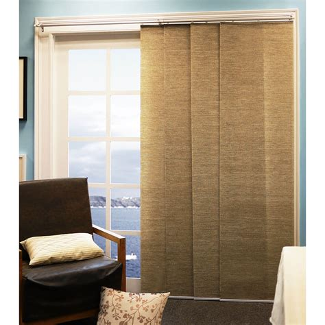 Fabric Panels For Sliding Glass Doors Chicology Adjustable Sliding Panel Cordless Shade Rail Track Privacy Fabric 80 Quot X 96