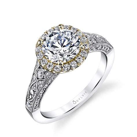 cheri vintage inspired halo engagement ring sylvie