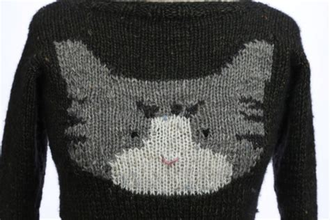 knitted cat sweater pattern sweater by meg project knitting cardigans