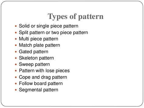 pattern of english application types of pattern and its application