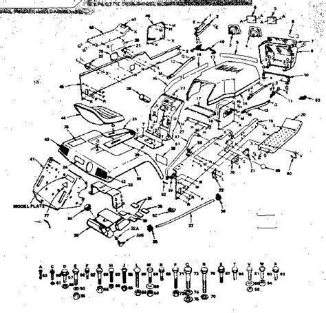 craftsman gt 5000 parts diagram craftsman gt5000 wiring harness wiring diagram