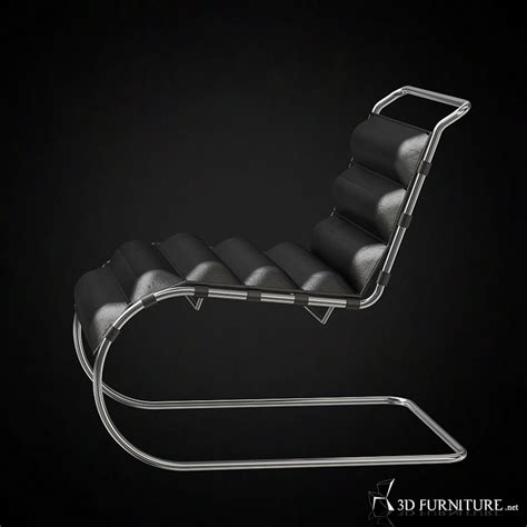 Mies Der Rohe Lounge Chair by 3d Lounge Chair By Mies Der Rohe High Quality 3d Models