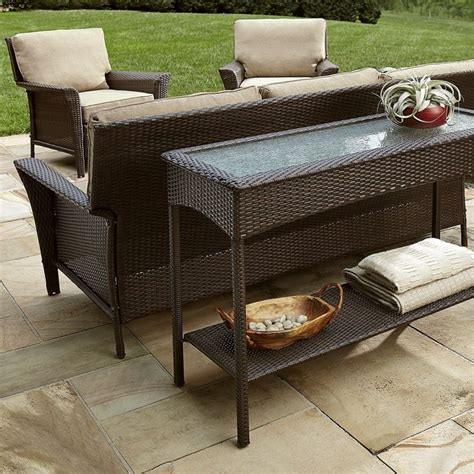 outdoor console table with storage outdoor console tables kathy kuo home table with storage