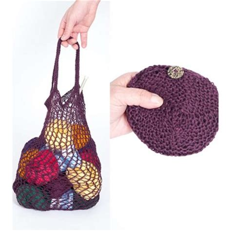 pattern for yarn bag louet knitted and crocheted pouch bag pdf at webs yarn com