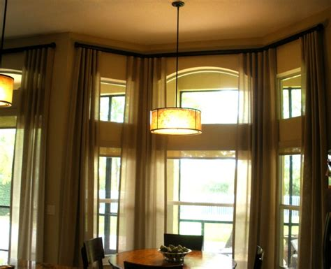 bay window dining room bay window drapery contemporary dining room miami