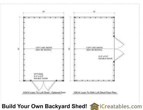10 X 16 Shed Floor by 10x16 Lean To Shed Plans With Loft