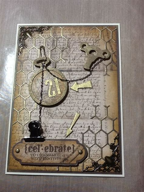 Tim Holtz Birthday Cards Pin By Sarah Burr On Card Making Pinterest
