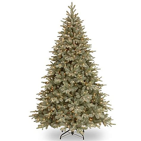 65ft frosted pre lit artificial christmas trees national tree 7 5 foot frosted arctic spruce pre lit tree with clear lights bed bath